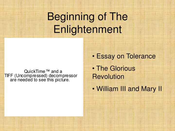 Beginning of The Enlightenment