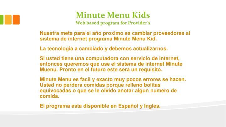 Minute Menu Kids