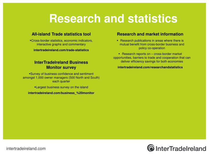 Research and statistics