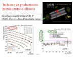 inclusive jet production in proton proton collisions