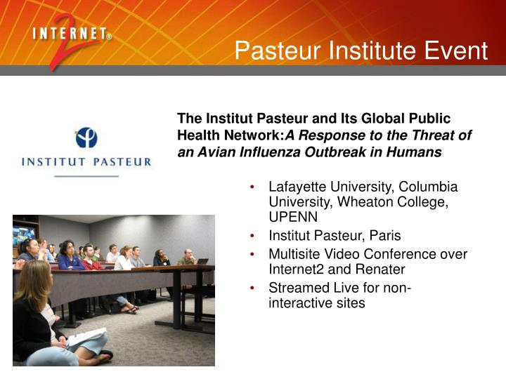 Pasteur Institute Event