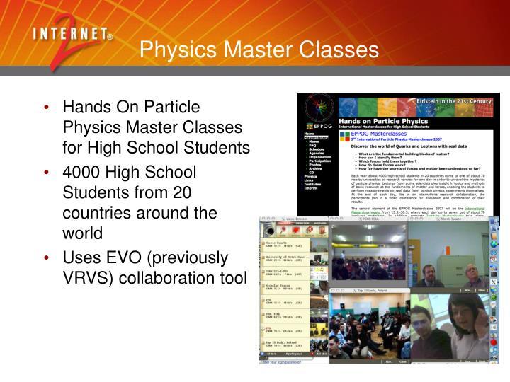 Physics Master Classes