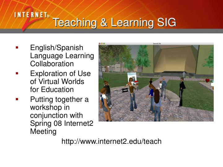 Teaching & Learning SIG