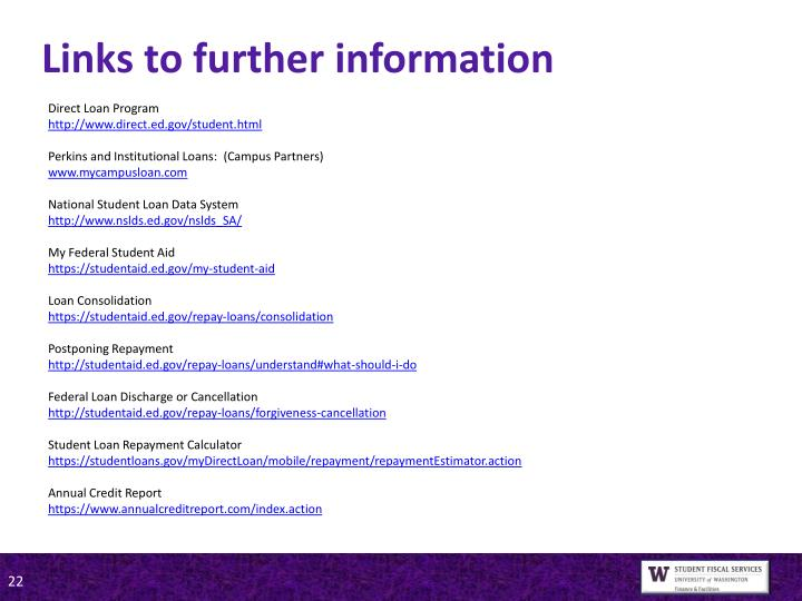 Links to further information