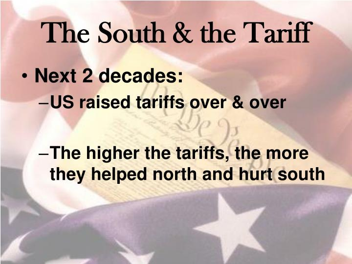 The south the tariff1