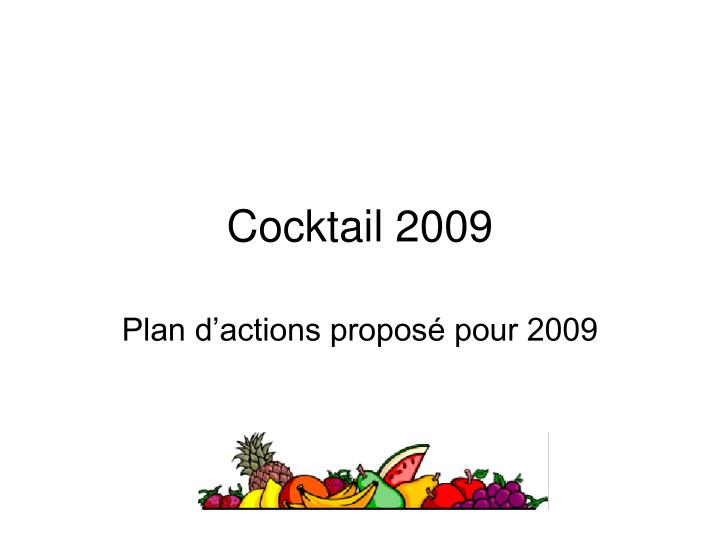 cocktail 2009 n.