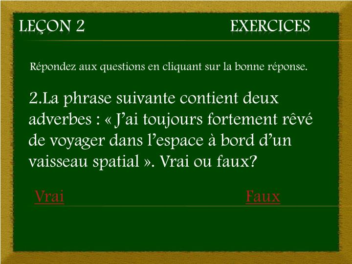 Le on 2 exercices1