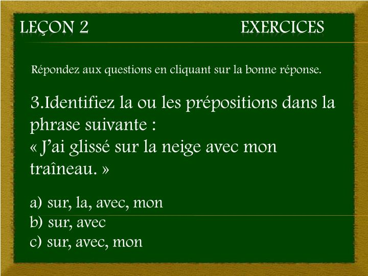 Le on 2 exercices2