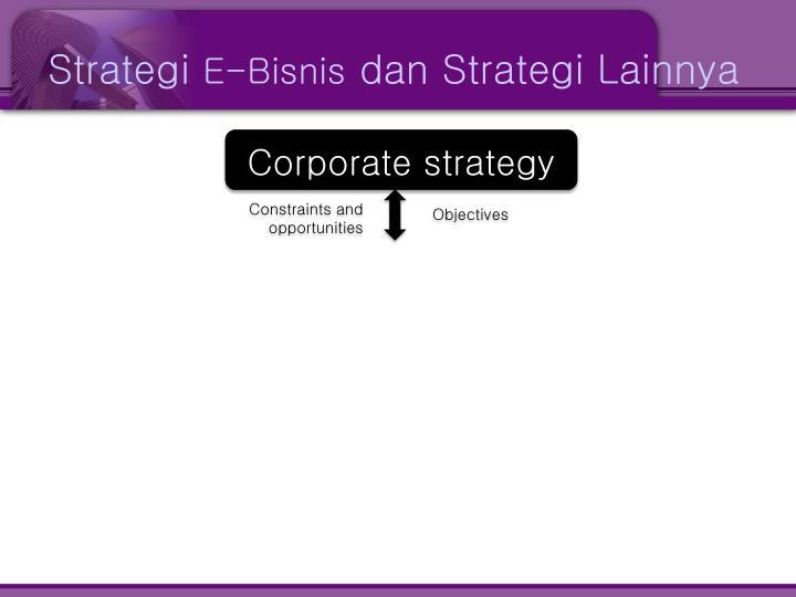 Strategi e bisnis dan strategi lainnya