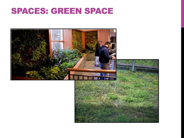 Spaces: Green space