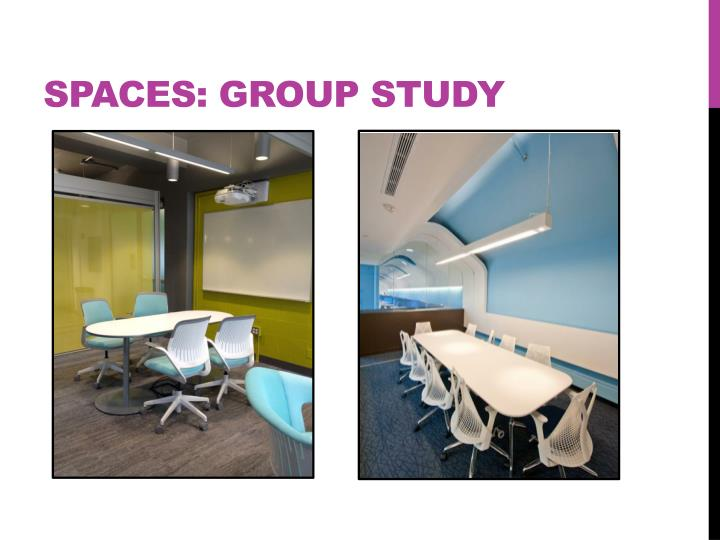 Spaces: Group Study