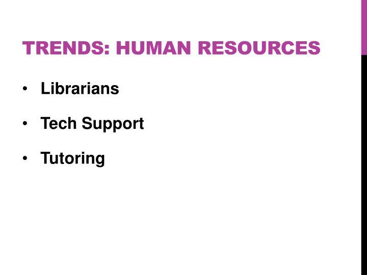 Trends: HUMAN RESOURCES