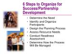 6 steps to organize for success partnership development