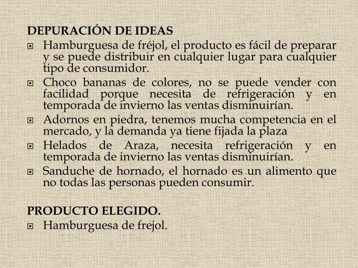 DEPURACIÓN DE IDEAS