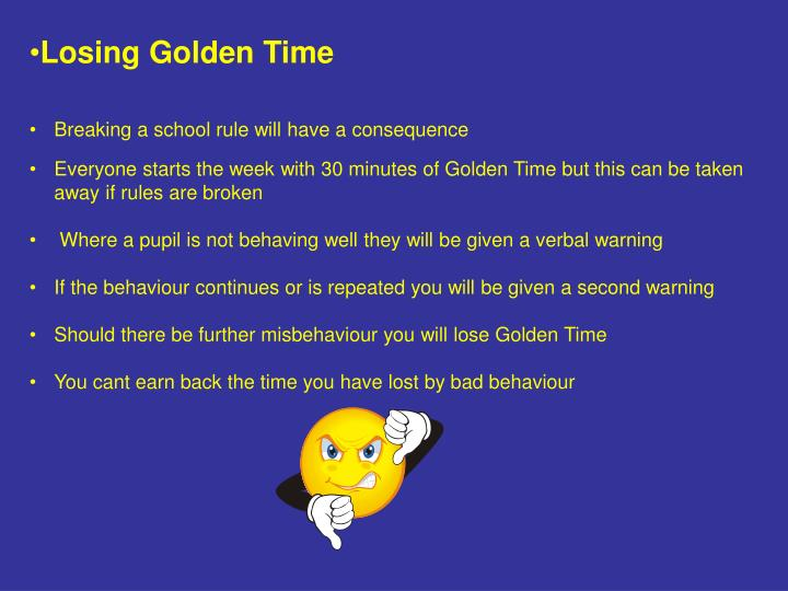 Losing Golden Time