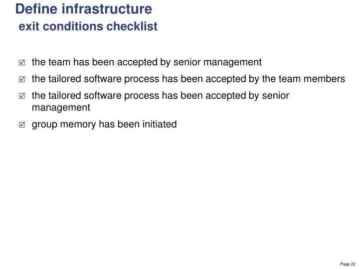 Define infrastructure