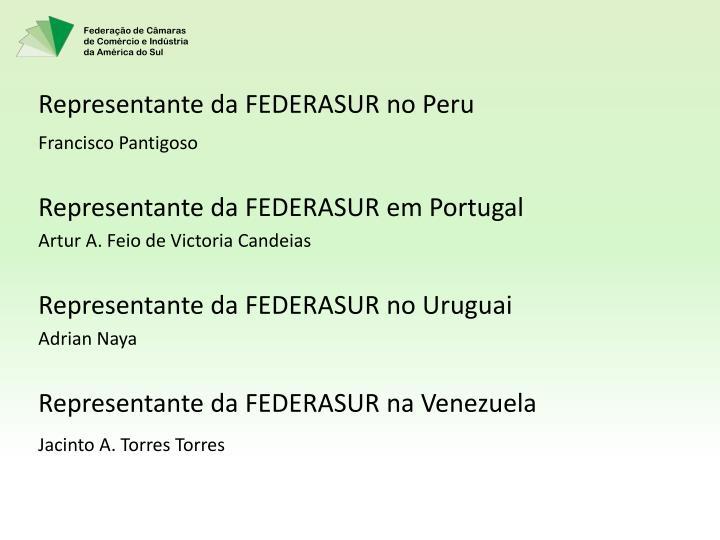 Representante da FEDERASUR no Peru