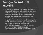 para que se realizo el festival
