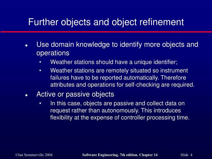 Further objects and object refinement