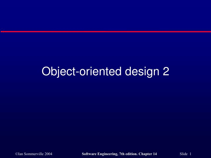 Object oriented design 2