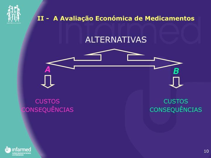 II -  A Avaliação Económica de Medicamentos