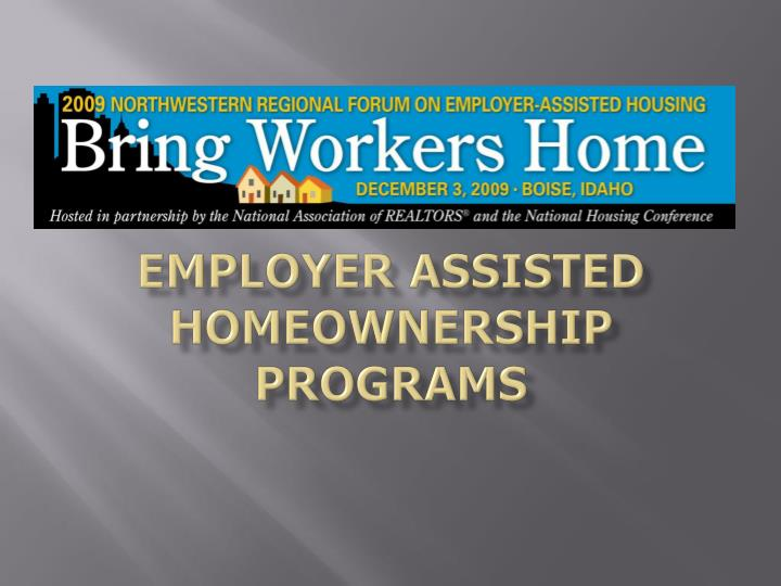 employer assisted homeownership programs n.