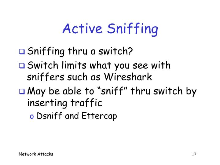 Active Sniffing