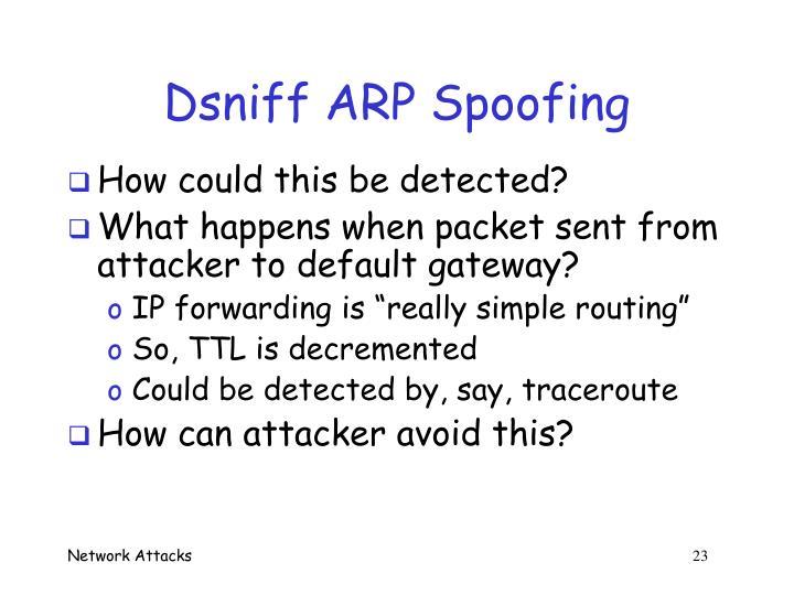 Dsniff ARP Spoofing