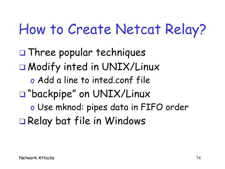 How to Create Netcat Relay?