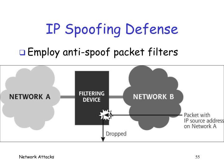 IP Spoofing Defense
