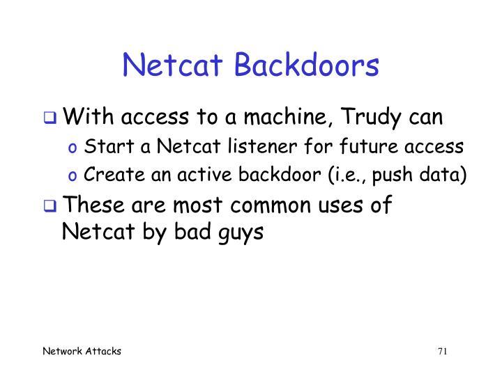 Netcat Backdoors