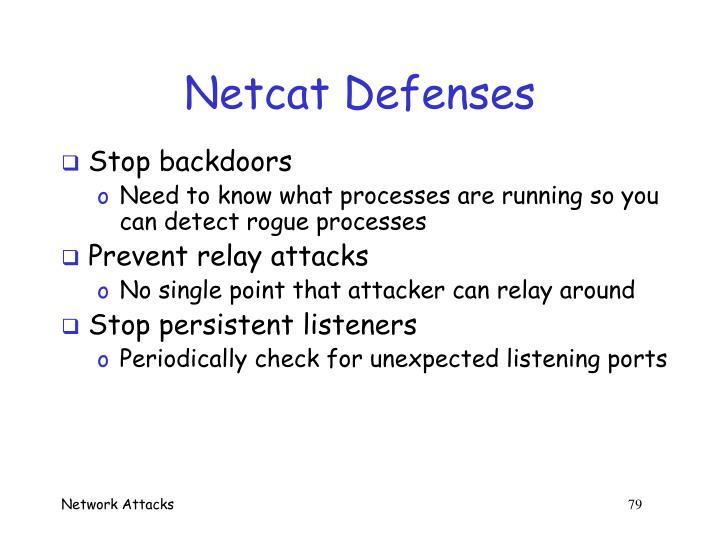 Netcat Defenses