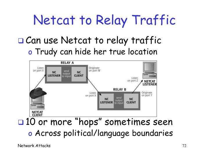 Netcat to Relay Traffic