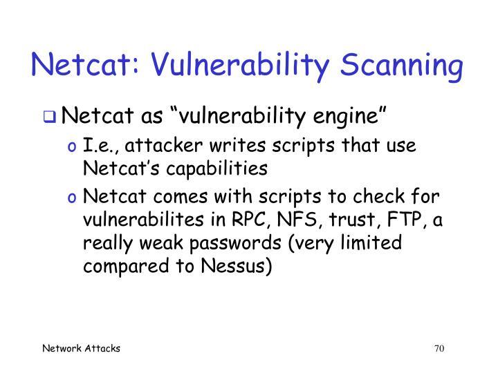 Netcat: Vulnerability Scanning