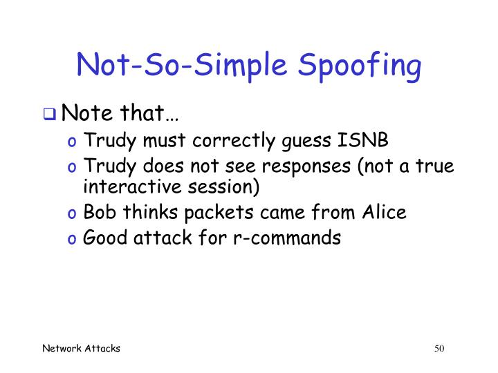 Not-So-Simple Spoofing