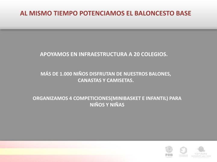 AL MISMO TIEMPO POTENCIAMOS EL BALONCESTO BASE