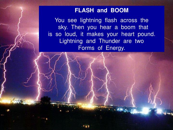 FLASH  and  BOOM