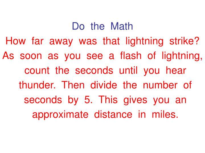 Do  the  Math