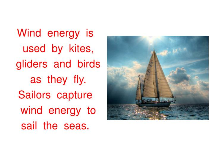 Wind  energy  is