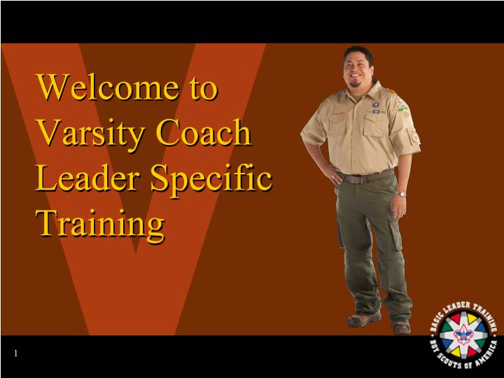 welcome to varsity coach leader specific training