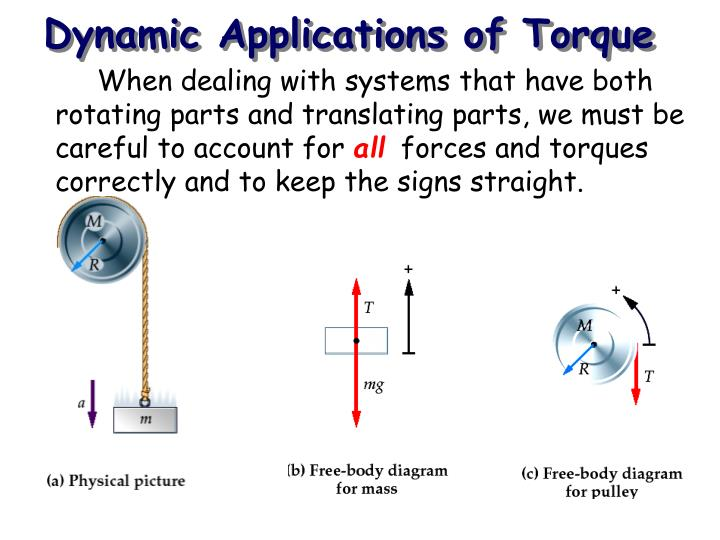 Dynamic Applications of Torque