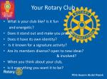your rotary club