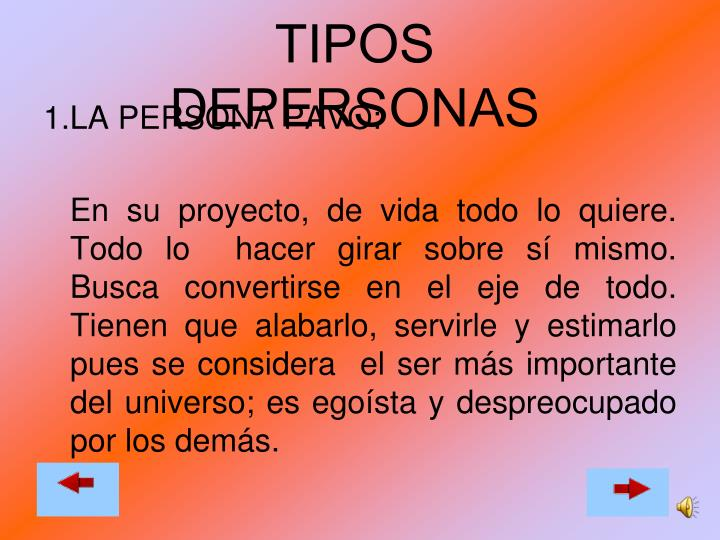 TIPOS DEPERSONAS