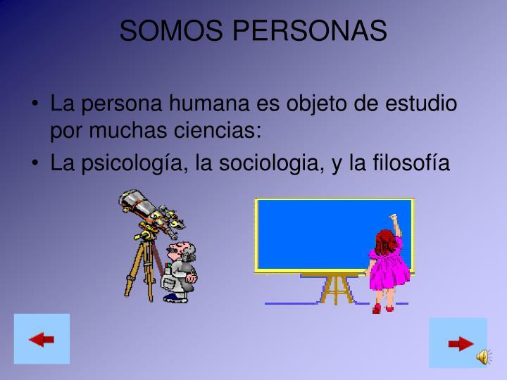 SOMOS PERSONAS