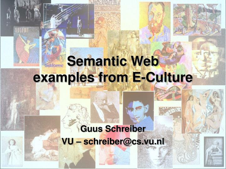semantic web examples from e culture n.