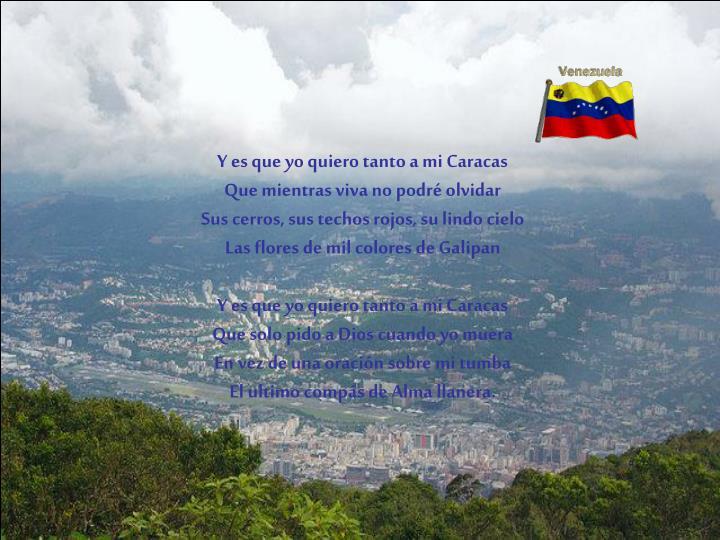 Y es que yo quiero tanto a mi Caracas