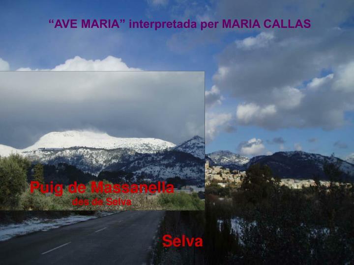 """AVE MARIA"" interpretada per MARIA CALLAS"