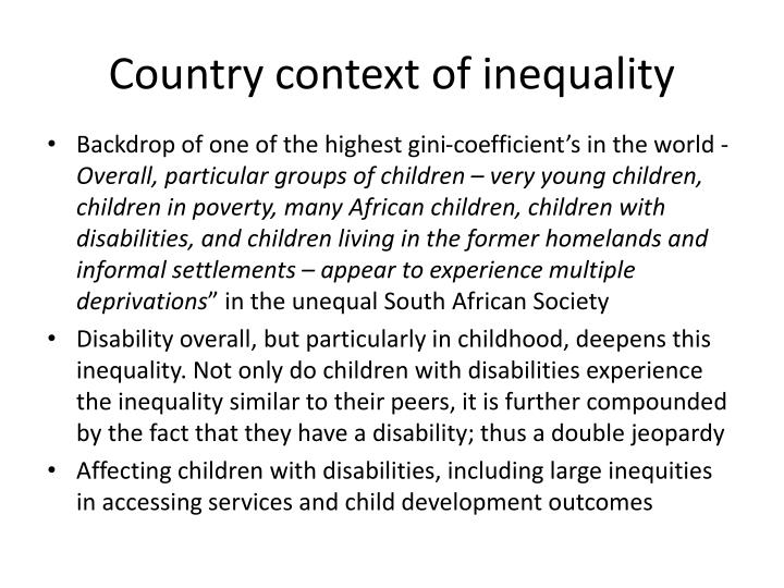 Country context of inequality
