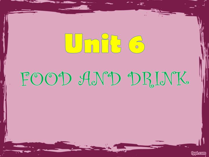 food and drink n.