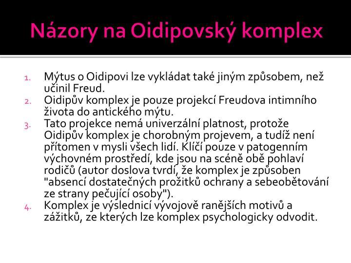 Názory na Oidipovský komplex
